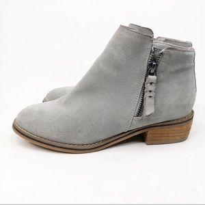Blondo Gray Blue Suede Ankle Booties